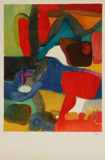 Maurice ESTEVE - Grabado - Rouge et Bleu
