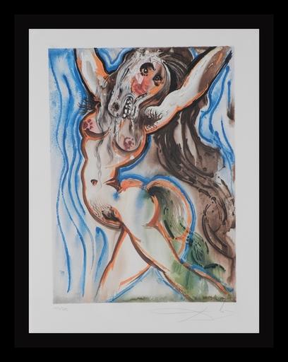 萨尔瓦多·达利 - 版画 -  Dalinean Horses Woman-Horse