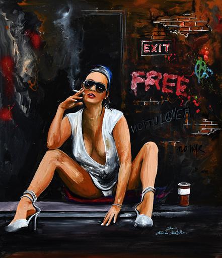 Rémi BERTOCHE - Pintura - Free Girl