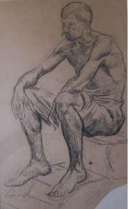 Maximilien LUCE, Crouching man