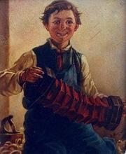 ARGÜELLES - Pintura - acordeonista