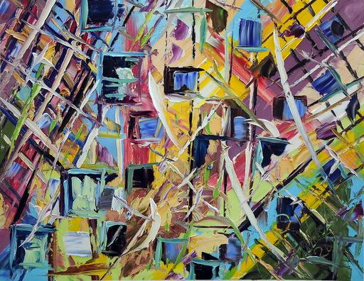 Antonino PULIAFICO - Gemälde - reflected buildings
