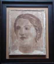 "Jacinto SALVADO - Pintura - Femme ""Portrait de Vicenta"""