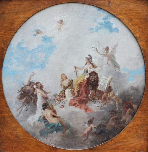 Ernesto FONTANA - Gemälde - Triumph of Eleonora d'Arborea