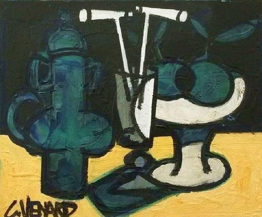 Claude VENARD - Painting - Composition à la Cafetière Verte