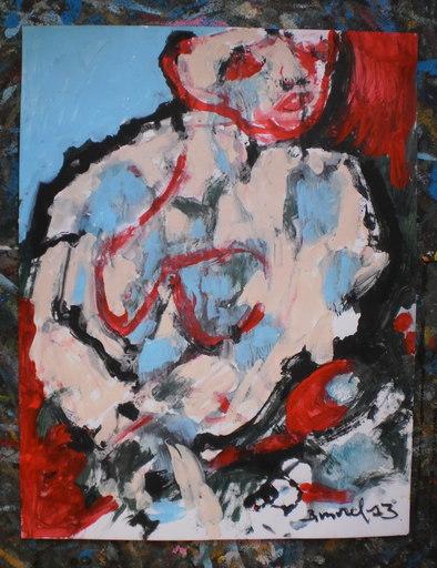 Bernard MOREL - Pintura - FEMME
