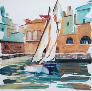 Diana KIROVA - Painting - Monopoli,Bari III