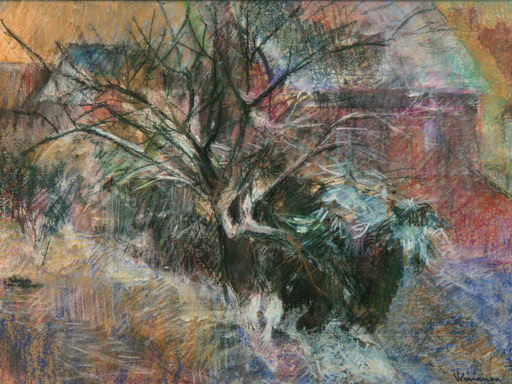 Georges MIRIANON - Drawing-Watercolor - Arbres en hiver
