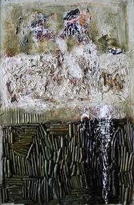 Levan URUSHADZE - Painting - Faces # 4