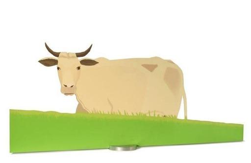 Alex KATZ - Grabado - Cow