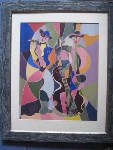 Michel MORENO - Drawing-Watercolor - LES FLUTISTE  1994