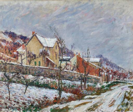 Gustave LOISEAU - Pintura - Paysage de neige
