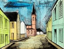 贝纳•毕费 - 水彩作品 - Abaucourt