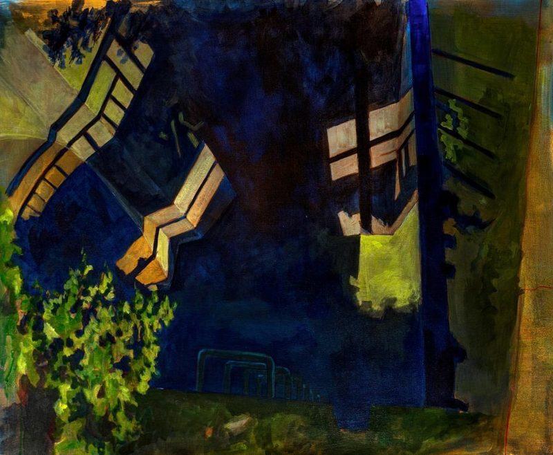 Aude MOUILLOT - Painting - « Étang 6 »
