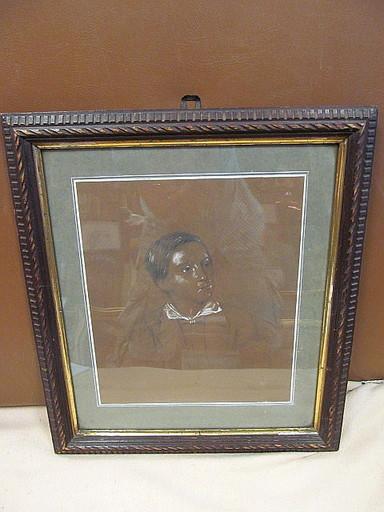 Friedrich I PRELLER - Zeichnung Aquarell - Bildnis des Anton Storch