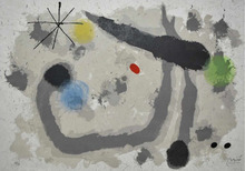 Joan MIRO - Estampe-Multiple - Harmonie Grise