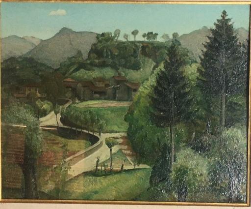 Alberto SALIETTI - Peinture - Paesaggio di Valseriana