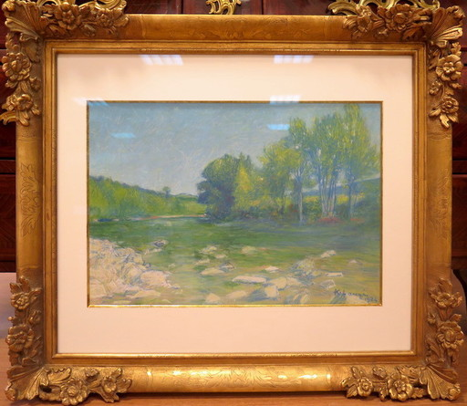 Achille LAUGÉ - Drawing-Watercolor - PAYSAGE