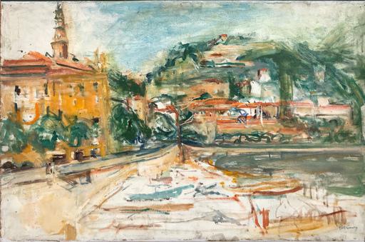 Isaac DOBRINSKY - Gemälde - Le port de Menton, 1954-55