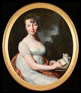 Monique DANICHE - Pittura - Portrait of a Young Woman