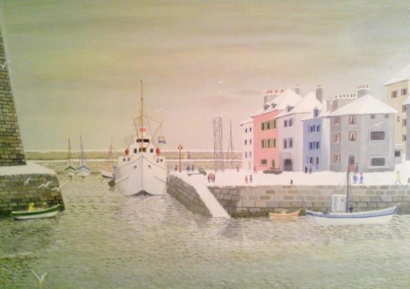 André BOUQUET - Pintura - le palais sous la neige