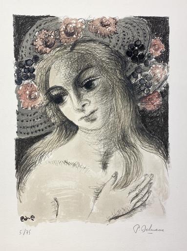 Paul DELVAUX - Print-Multiple - Chapeau flori II