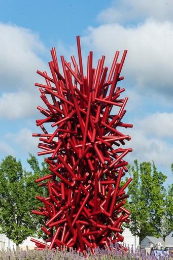 Shayne DARK - Sculpture-Volume - Tangled Column Red