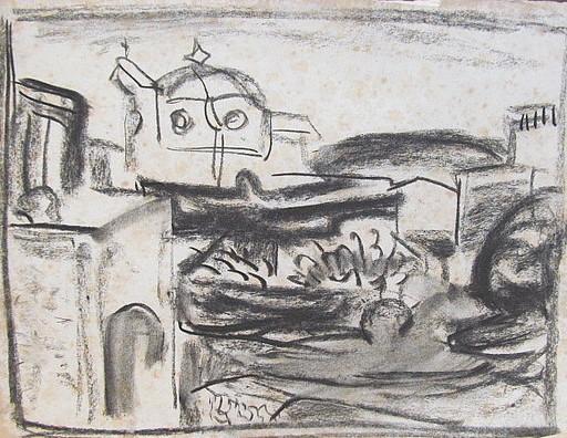 Erich HARTMANN - Dibujo Acuarela - #19988: Ischia St. Angelo.