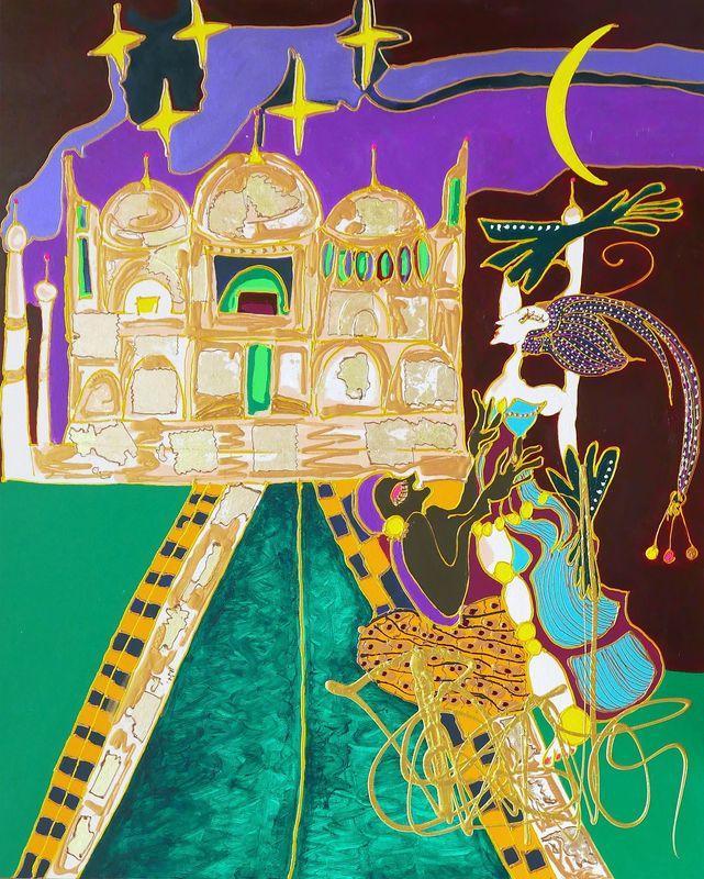 Isa SATOR - Peinture - Le Palais de l'Amour    (Cat N° 6749)