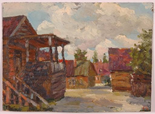 """Alexander D. CHEMISOV - Peinture - """"Russian Village"""" by Alexander Chemisov"""
