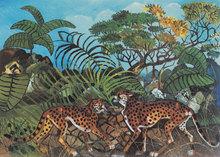 Antonio LIGABUE (1899-1965) - Leopardi nella foresta