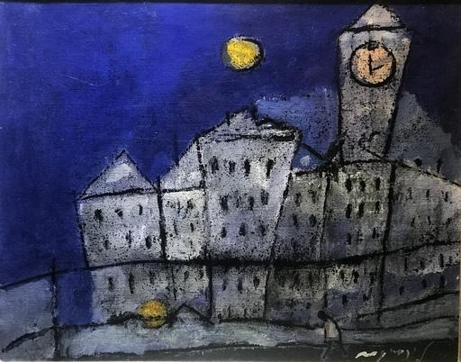 Franco ROGNONI - Gemälde - Paese sul fiume