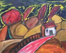 Christian DURIAUD - Pintura - Red wind