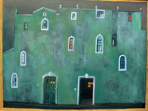 Zurab GIKASHVILI - Painting - Green house