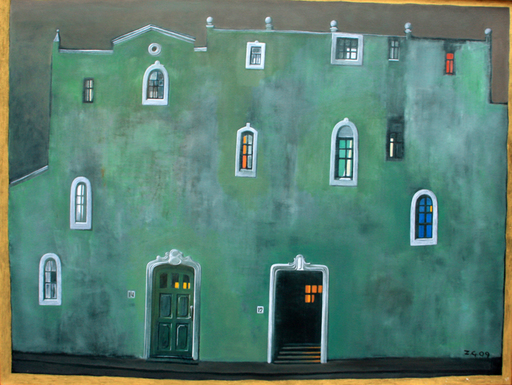Zurab GIKASHVILI - Painting - Green house
