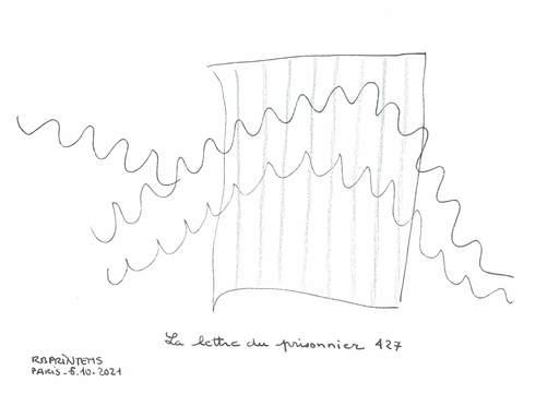 Reine BUD-PRINTEMS - Zeichnung Aquarell - La lettre du Prisonnier 427