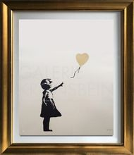 BANKSY - Estampe-Multiple - Girl with Balloon - Colour AP (Gold)