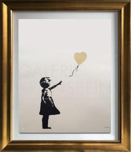 班克斯 - 版画 - Girl with Balloon - Colour AP (Gold)