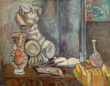 Pinchus KREMEGNE - Pintura - Still Life with Bust