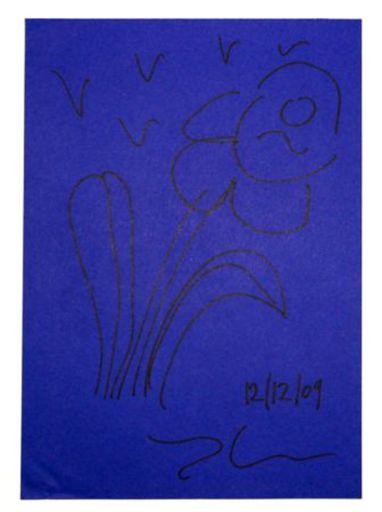 Jeff KOONS - Disegno Acquarello - Flower 2