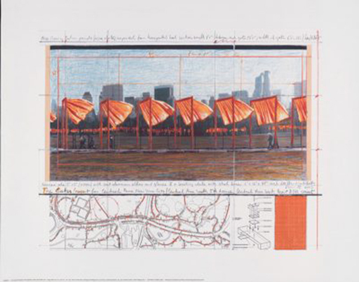 CHRISTO - Estampe-Multiple - The Gates (h)