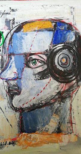Wahid MAGHARBEH - Pittura - Volto tecnologico
