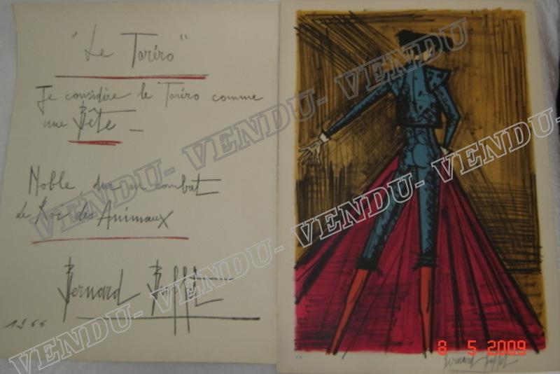 Bernard BUFFET - Print-Multiple - VENDU: TORERO DE DOS DOUBLE PAGE SIGNE