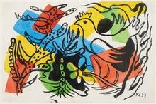 Fernand LÉGER (1881-1955) - Paysage à l'oiseau