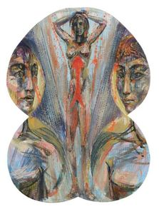 Bruno CECCOBELLI - Painting - Venere in salita