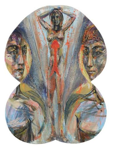 Bruno CECCOBELLI - Gemälde - Venere in salita