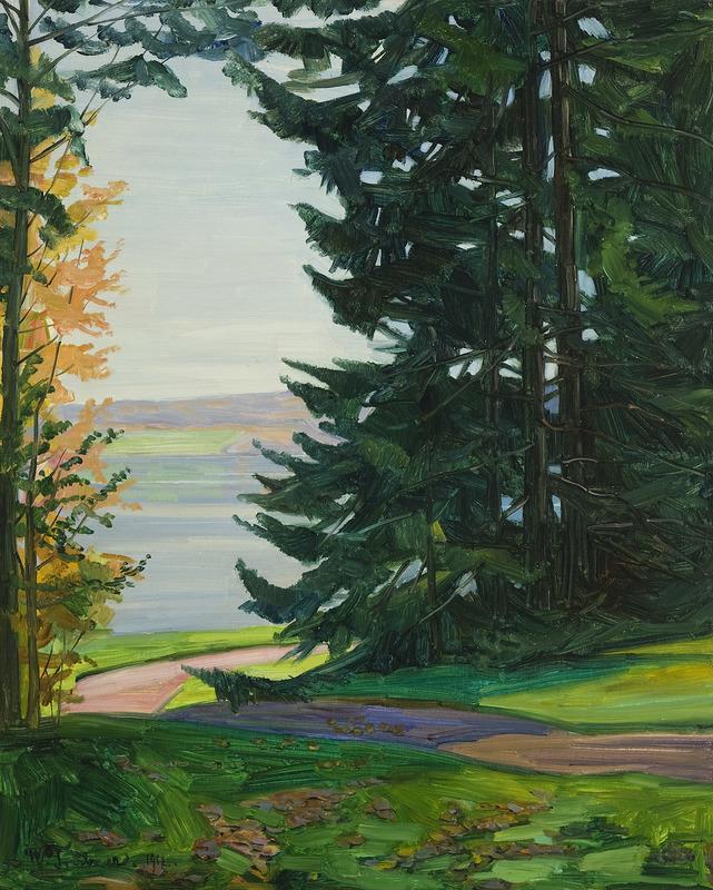 Wilhelm TRÜBNER - Painting - Park Knorr am Starnberger See