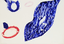 Sam FRANCIS - Print-Multiple - Untitled - (from Baby Lips series)