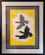 Georges BRAQUE - Estampe-Multiple - Trois Oiseaux en Vol
