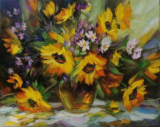 Alexander SERGEEV - Painting - Sunflowers